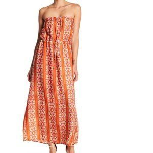 Collective Concepts Strapless Print Maxi Dress S
